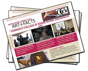 Artifacts-CCRI Department of Art-Newsletter-Spring 2013