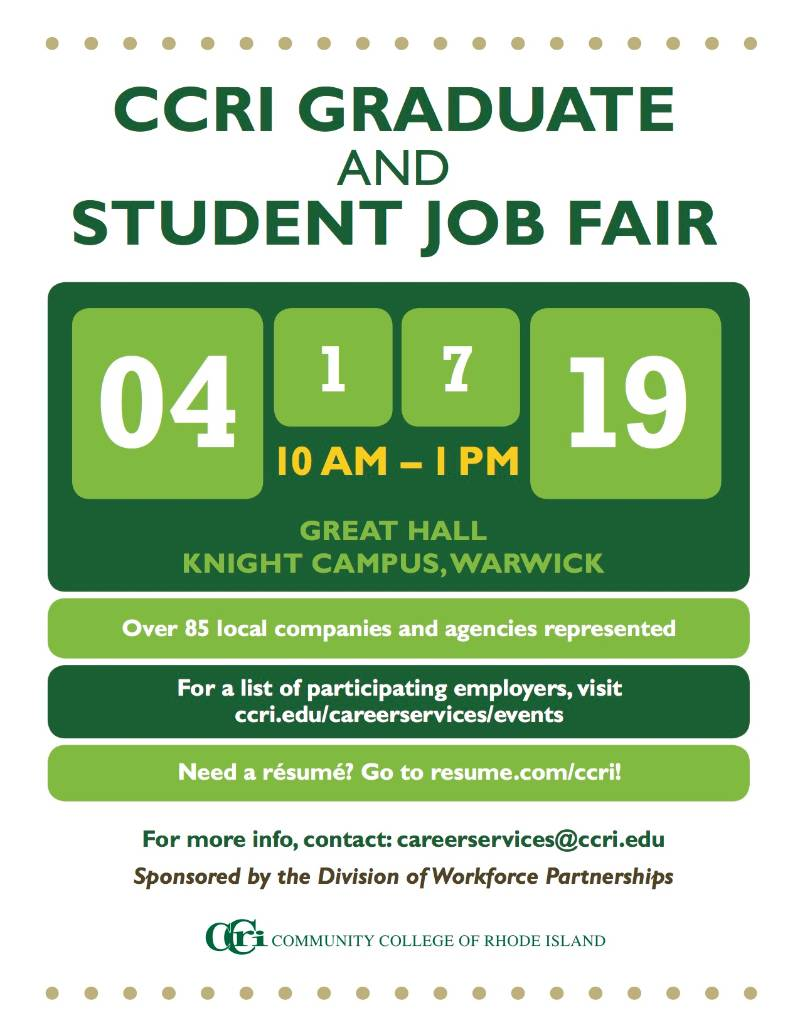 Career Services Events – Community College of Rhode Island