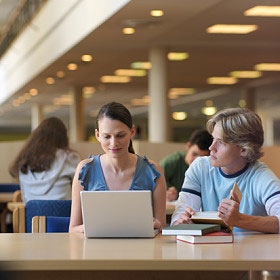 college students using a computer