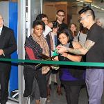 Ribbon cutting for Art Department