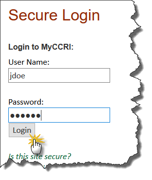 login to myccri
