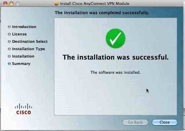 Successful Installation
