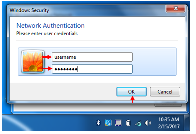 How to log into the CCRI Wireless Network on Windows 7