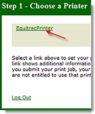 Personal Printing Desktop - Select Equitrac Printer