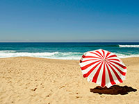 Summer - Red beach umbrella