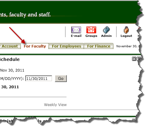 "MyCCRI ""For Faculty"" tab"