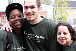 Students at Community Service Day