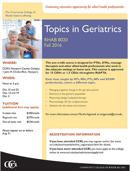 Geriatrics Course
